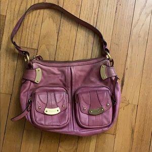 B. Makowsky dusty rose shoulder bag.